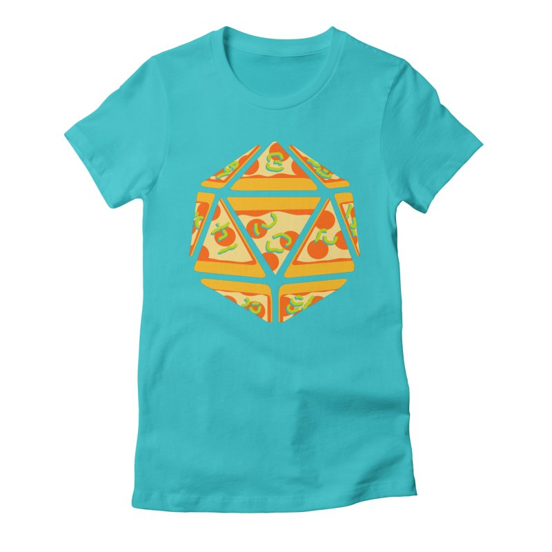 Pizza Roll Women's Fitted T-Shirt by mj's Artist Shop
