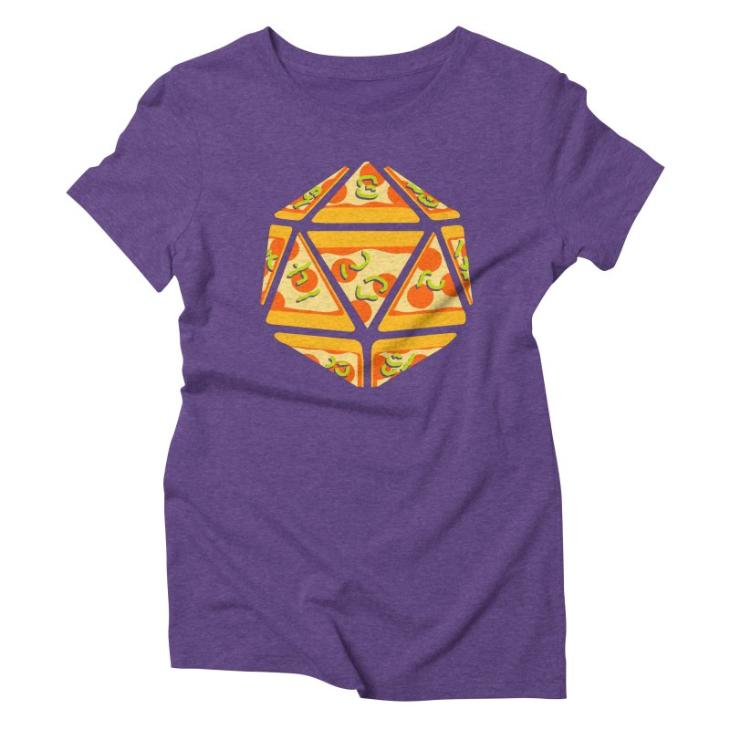 Pizza Roll Women's Triblend T-Shirt by mj's Artist Shop