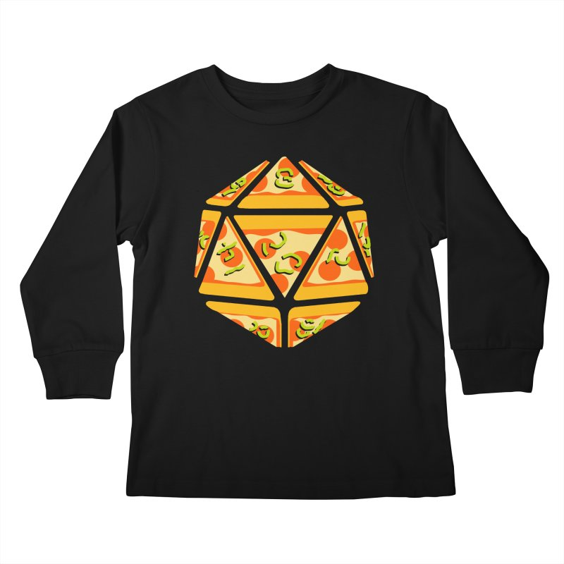 Pizza Roll Kids Longsleeve T-Shirt by mj's Artist Shop