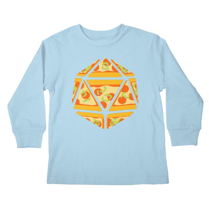 Pizza Roll Kids Longsleeve T-Shirt by mj's Artist Shop