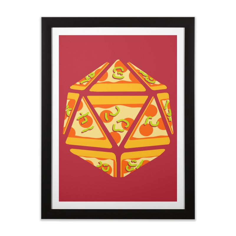 Pizza Roll Home Framed Fine Art Print by mj's Artist Shop