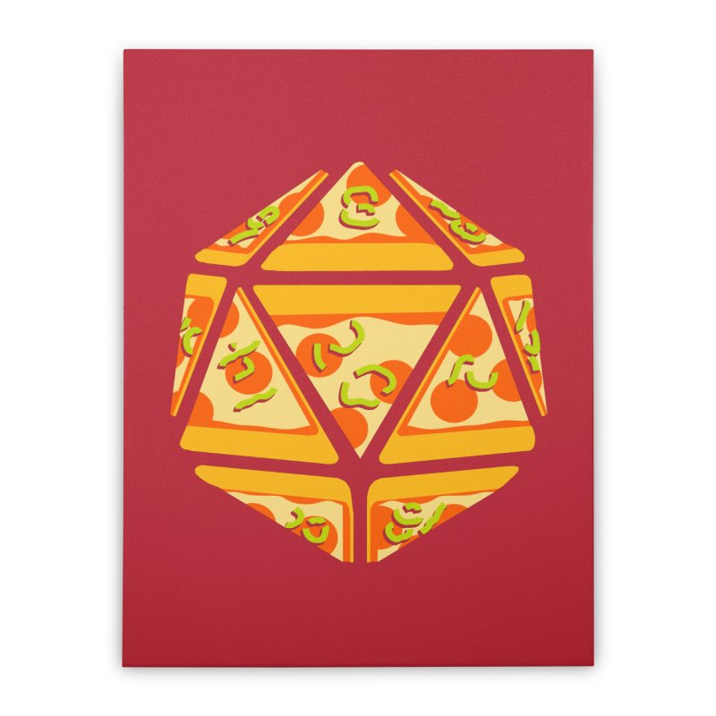 Pizza Roll Home Stretched Canvas by mj's Artist Shop