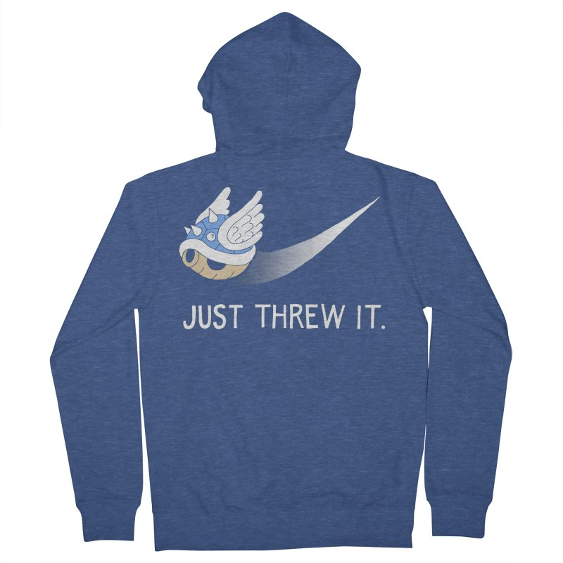 Blue Shell Athletics Men's Zip-Up Hoody by mj's Artist Shop