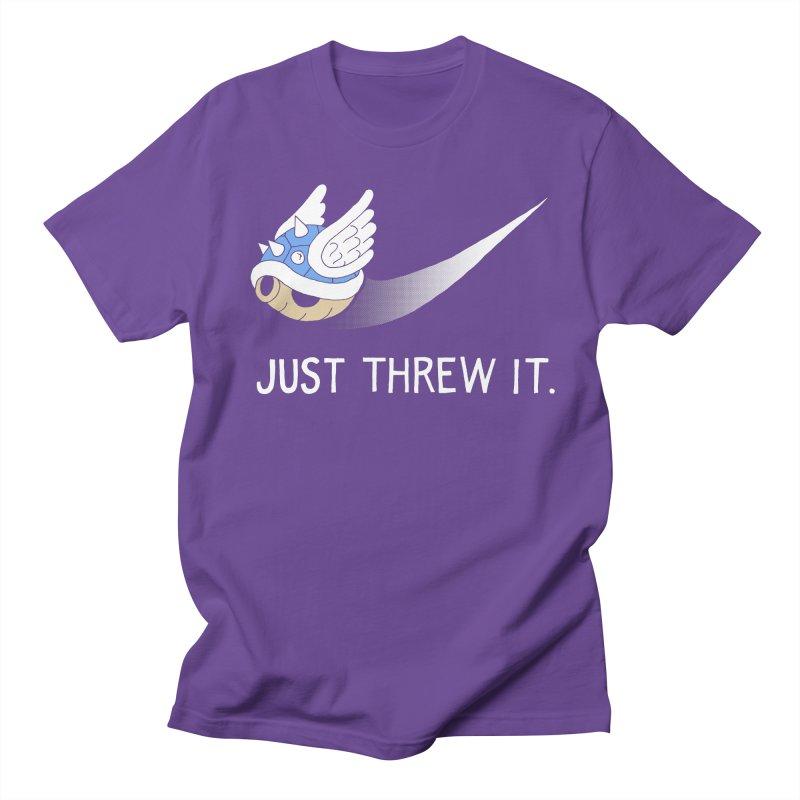 Blue Shell Athletics Men's Regular T-Shirt by mj's Artist Shop