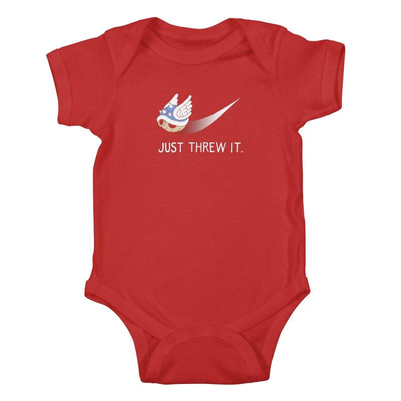Blue Shell Athletics Kids Baby Bodysuit by mj's Artist Shop