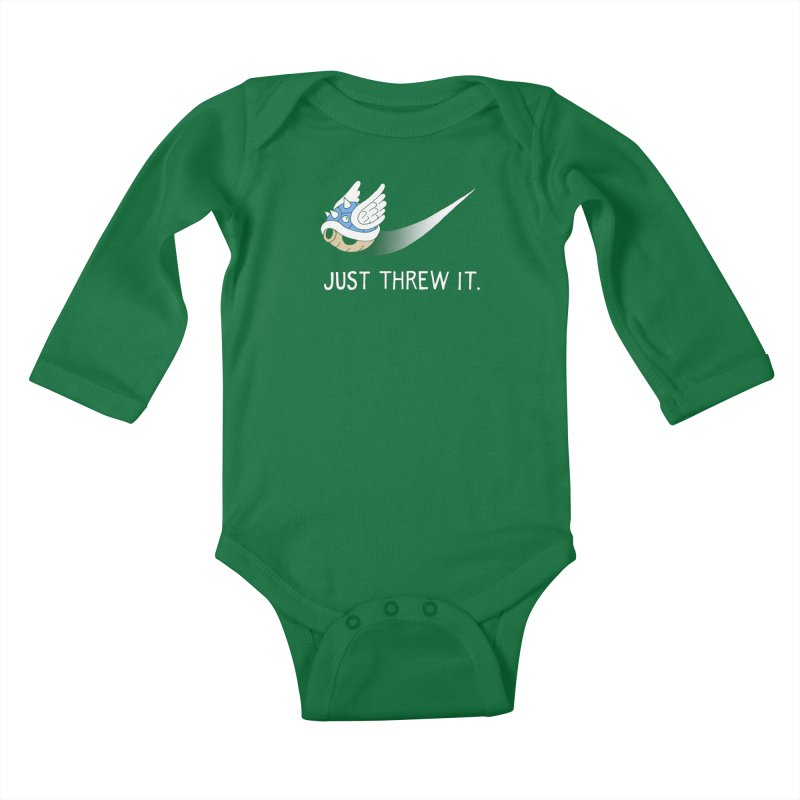 Blue Shell Athletics Kids Baby Longsleeve Bodysuit by mj's Artist Shop