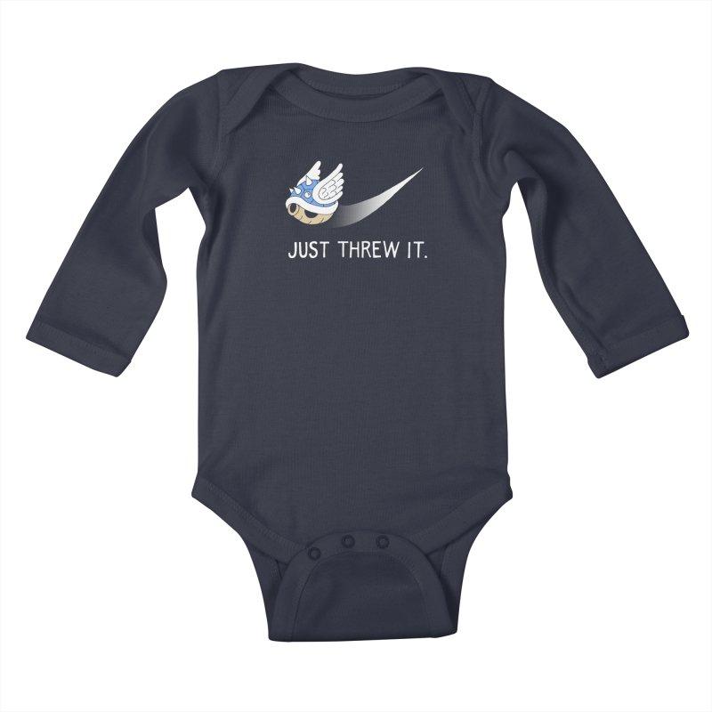 Blue Shell Athletics Kids Baby Longsleeve Bodysuit by mj's Artist Shop
