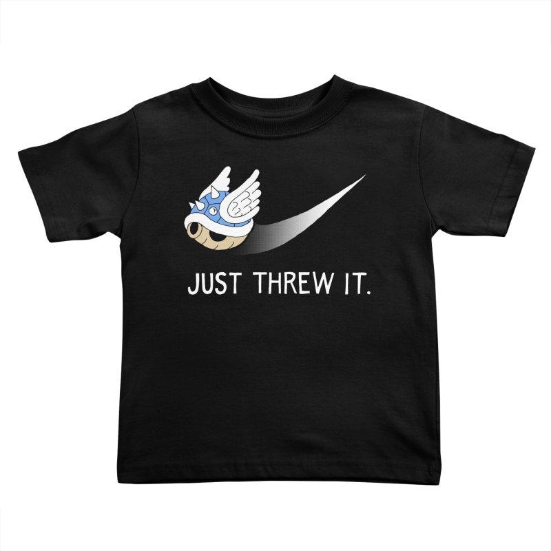 Blue Shell Athletics Kids Toddler T-Shirt by mj's Artist Shop
