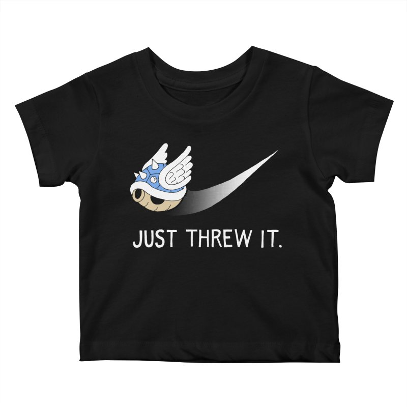 Blue Shell Athletics Kids Baby T-Shirt by mj's Artist Shop