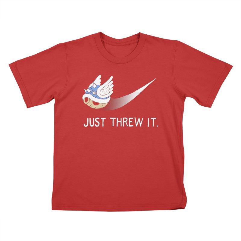 Blue Shell Athletics Kids T-shirt by mj's Artist Shop