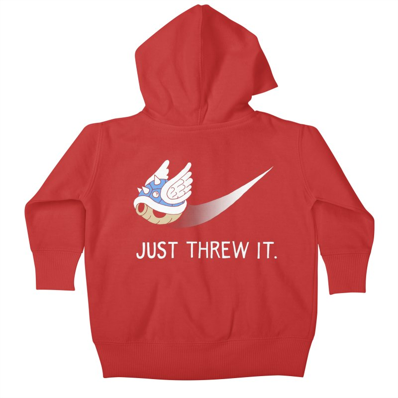Blue Shell Athletics Kids Baby Zip-Up Hoody by mj's Artist Shop