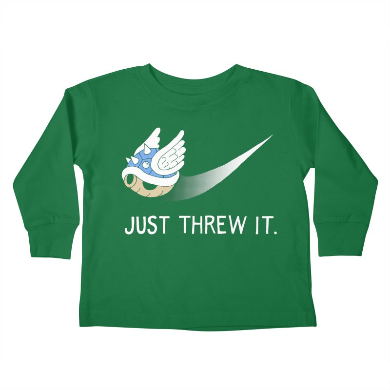 Blue Shell Athletics Kids Toddler Longsleeve T-Shirt by mj's Artist Shop