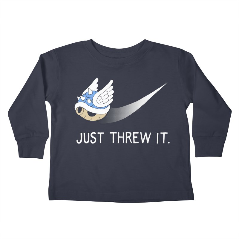 Blue Shell Athletics Kids Toddler Longsleeve T-Shirt by mj's Artist Shop