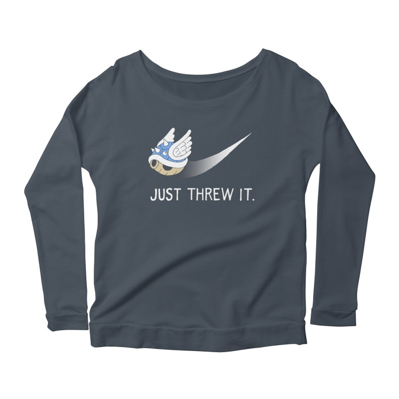 Blue Shell Athletics Women's Longsleeve Scoopneck  by mj's Artist Shop