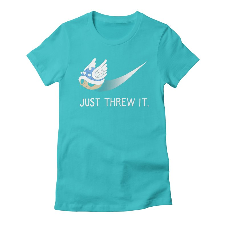 Blue Shell Athletics Women's Fitted T-Shirt by mj's Artist Shop