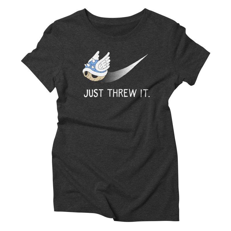 Blue Shell Athletics Women's Triblend T-Shirt by mj's Artist Shop
