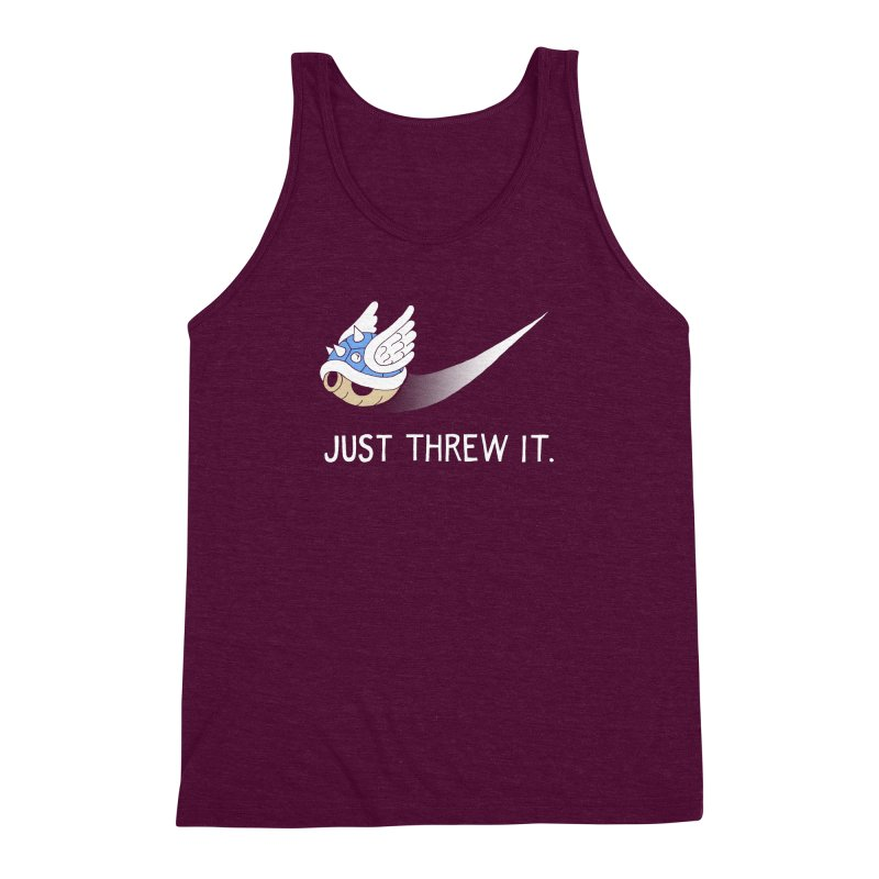Blue Shell Athletics Men's Triblend Tank by mj's Artist Shop
