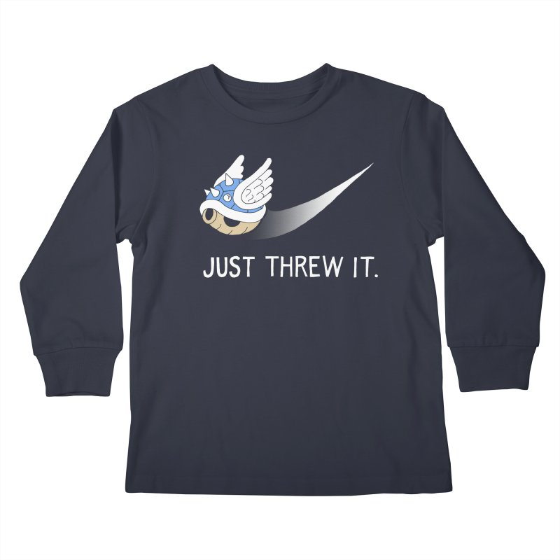 Blue Shell Athletics Kids Longsleeve T-Shirt by mj's Artist Shop