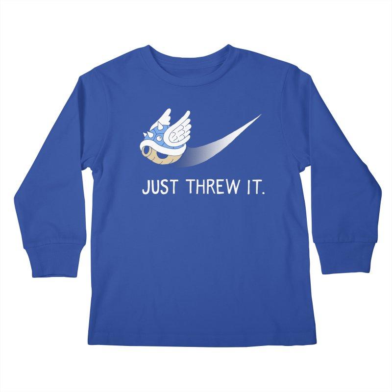 Blue Shell Athletics Kids Longsleeve T-Shirt by mj's Artist Shop