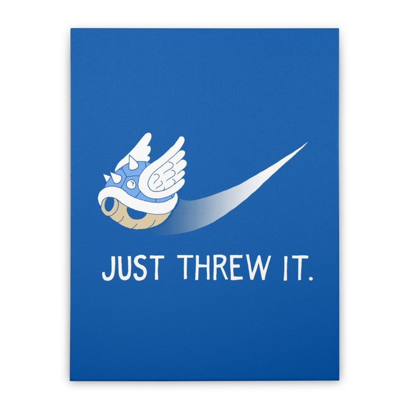 Blue Shell Athletics Home Stretched Canvas by mj's Artist Shop