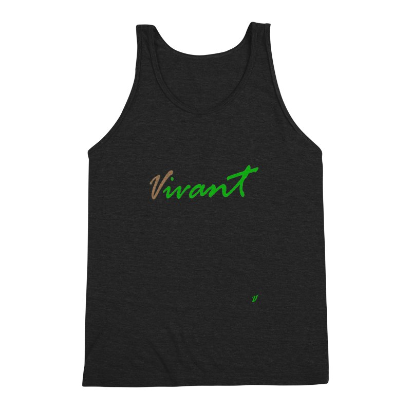 Built Solid Men's Triblend Tank by MJAllAccess Designs