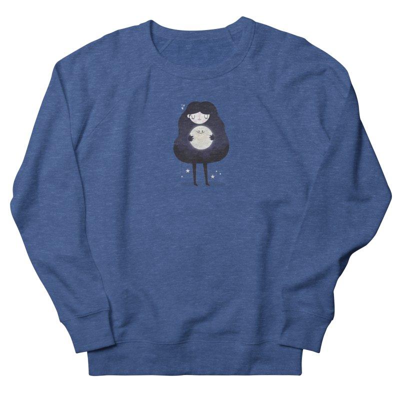 Hug the moon Women's Sweatshirt by Maria Jose Da Luz
