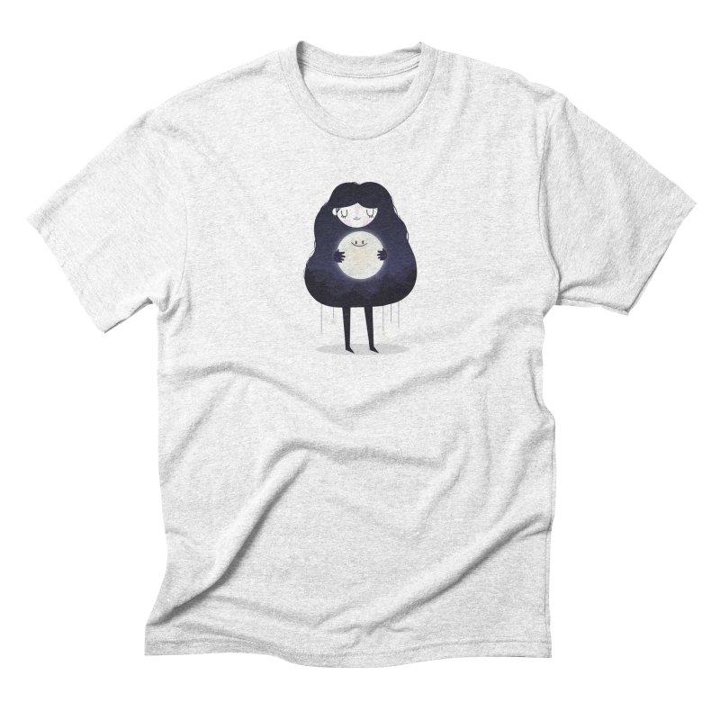 Hug the moon Men's Triblend T-shirt by Maria Jose Da Luz