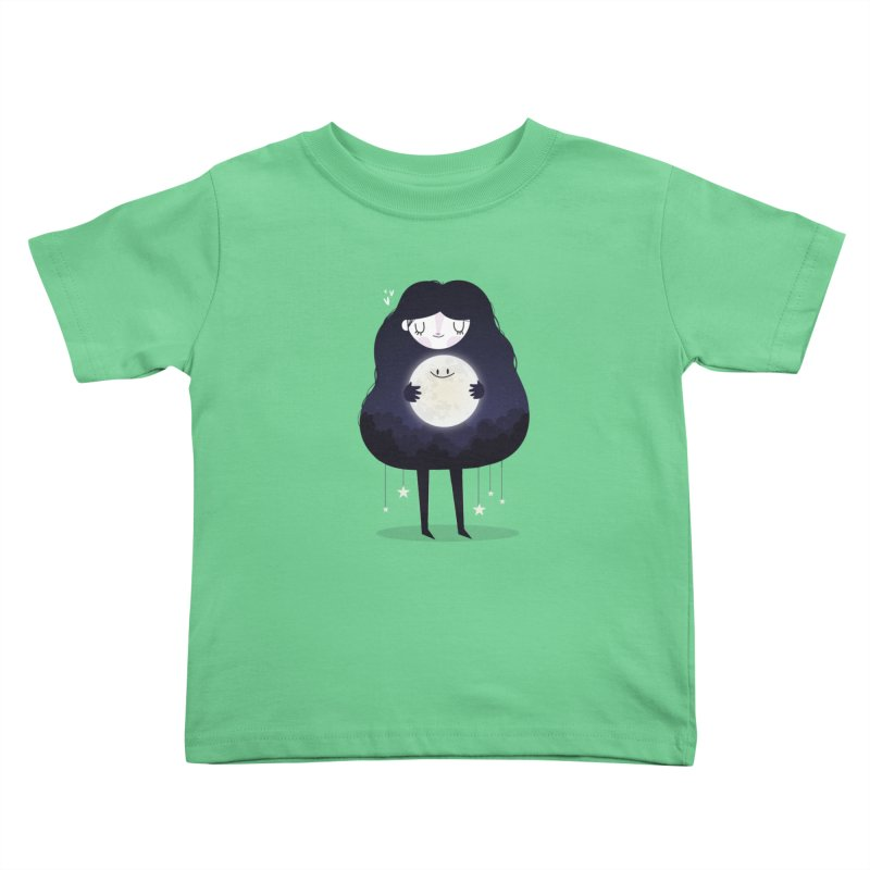 Hug the moon Kids Toddler T-Shirt by Maria Jose Da Luz