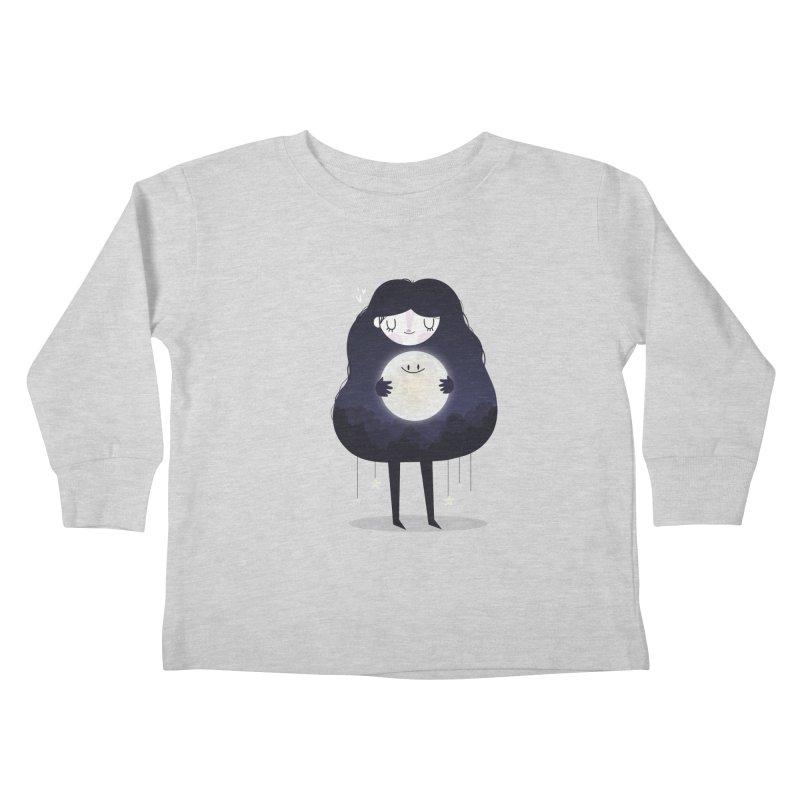 Hug the moon Kids Toddler Longsleeve T-Shirt by Maria Jose Da Luz