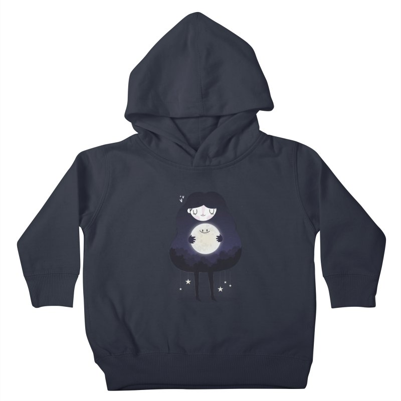 Hug the moon Kids Toddler Pullover Hoody by Maria Jose Da Luz