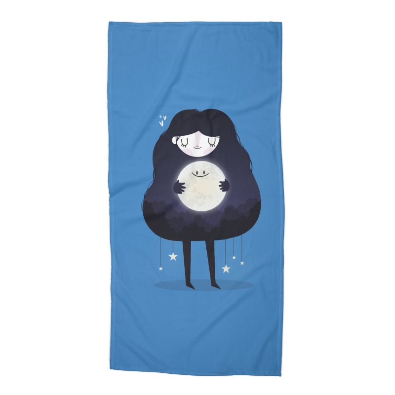 Hug the moon Accessories Beach Towel by Maria Jose Da Luz