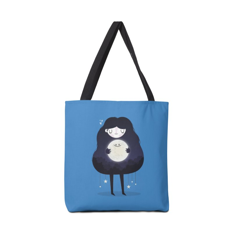 Hug the moon Accessories Bag by Maria Jose Da Luz