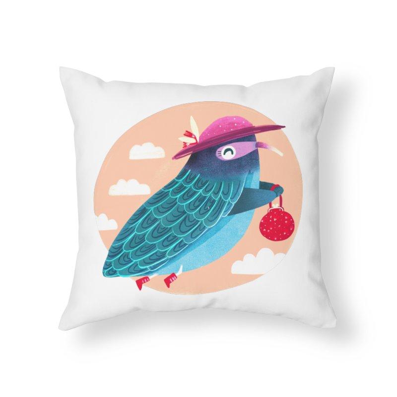 Ms.pigeon Home Throw Pillow by Maria Jose Da Luz