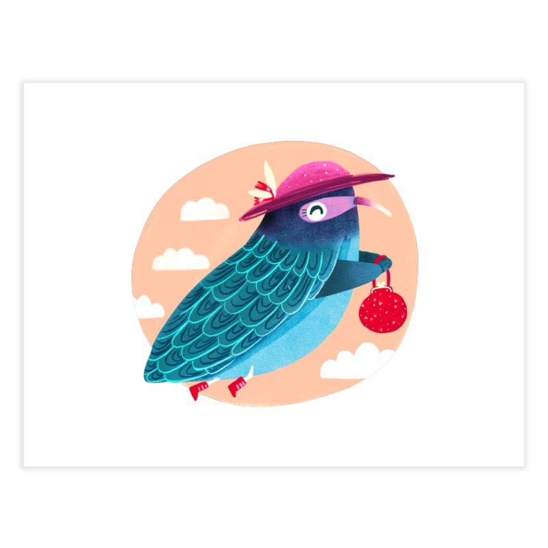 Ms.pigeon Home Fine Art Print by Maria Jose Da Luz