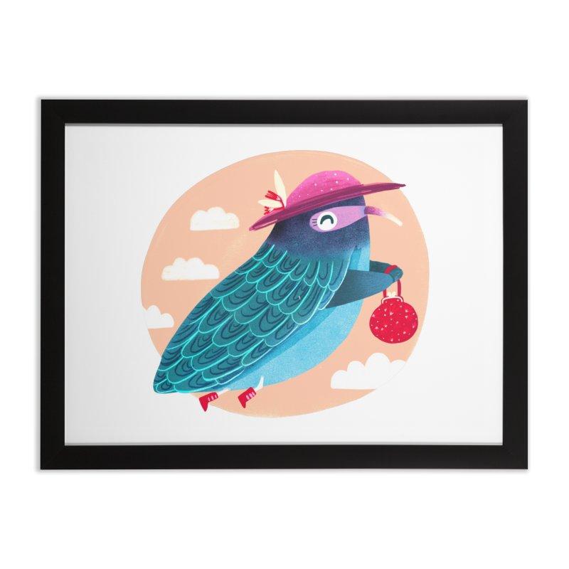 Ms.pigeon Home Framed Fine Art Print by Maria Jose Da Luz