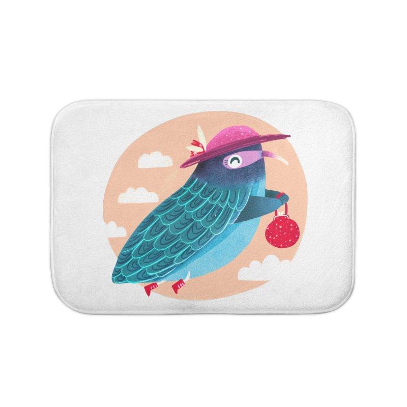 Ms.pigeon Home Bath Mat by Maria Jose Da Luz