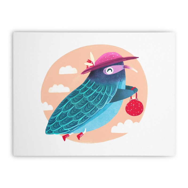 Ms.pigeon Home Stretched Canvas by Maria Jose Da Luz