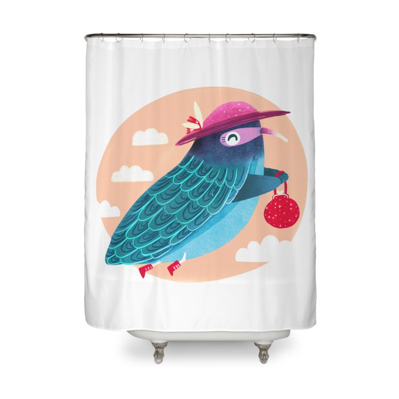 Ms.pigeon Home Shower Curtain by Maria Jose Da Luz