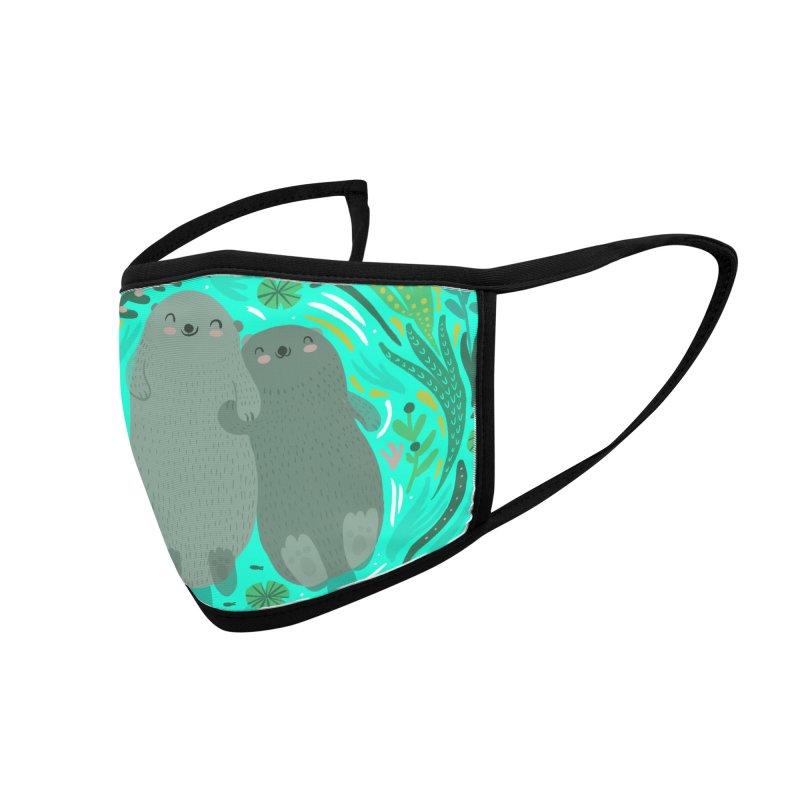 Otters Accessories Face Mask by Maria Jose Da Luz