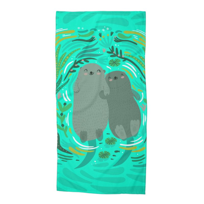 Otters Accessories Beach Towel by Maria Jose Da Luz