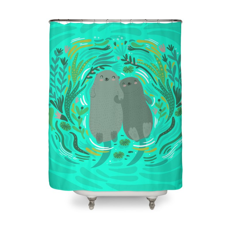 Otters Home Shower Curtain by Maria Jose Da Luz