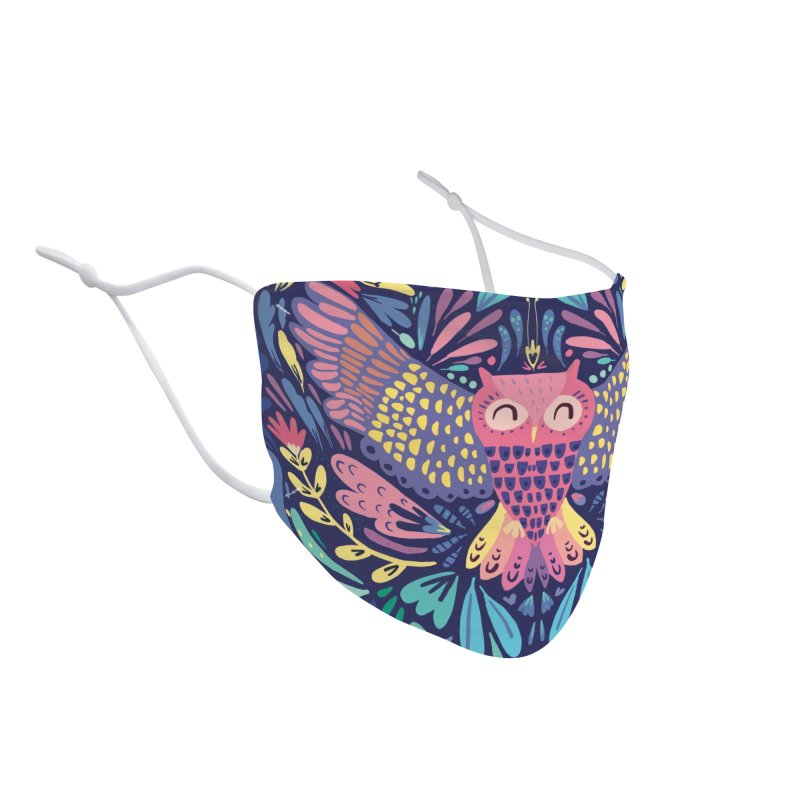 Owl Accessories Face Mask by Maria Jose Da Luz