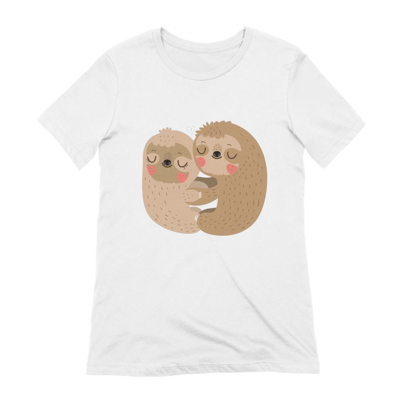 Sloth love Women's T-Shirt by Maria Jose Da Luz