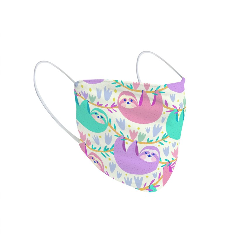 Pastel sloth pattern Accessories Face Mask by Maria Jose Da Luz