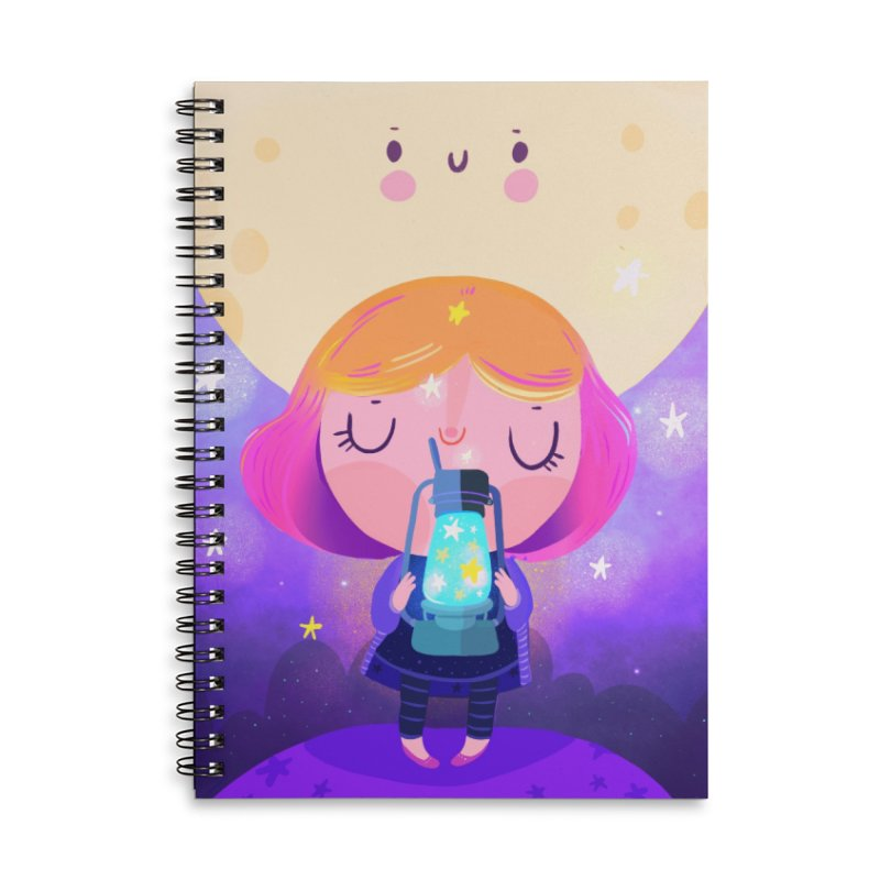 Magic moon Accessories Notebook by Maria Jose Da Luz