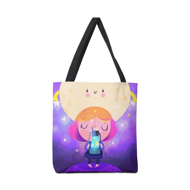 Magic moon Accessories Bag by Maria Jose Da Luz