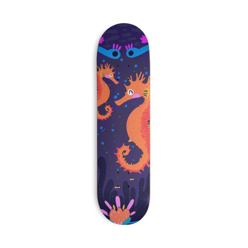 Seahorses Accessories Skateboard by Maria Jose Da Luz