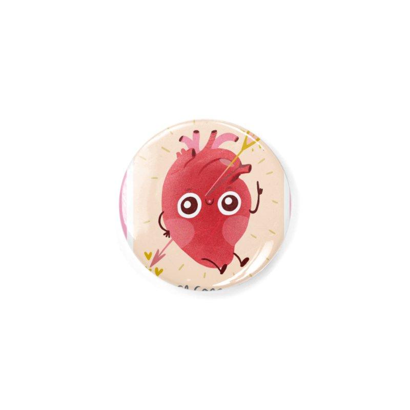 El corazón Accessories Button by Maria Jose Da Luz