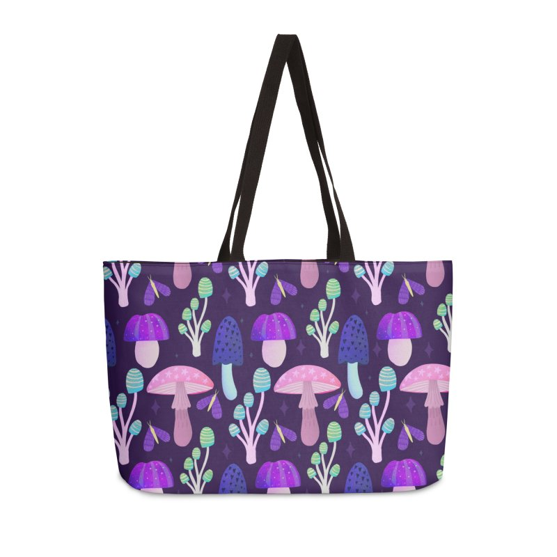 Mushroom pattern Accessories Bag by Maria Jose Da Luz