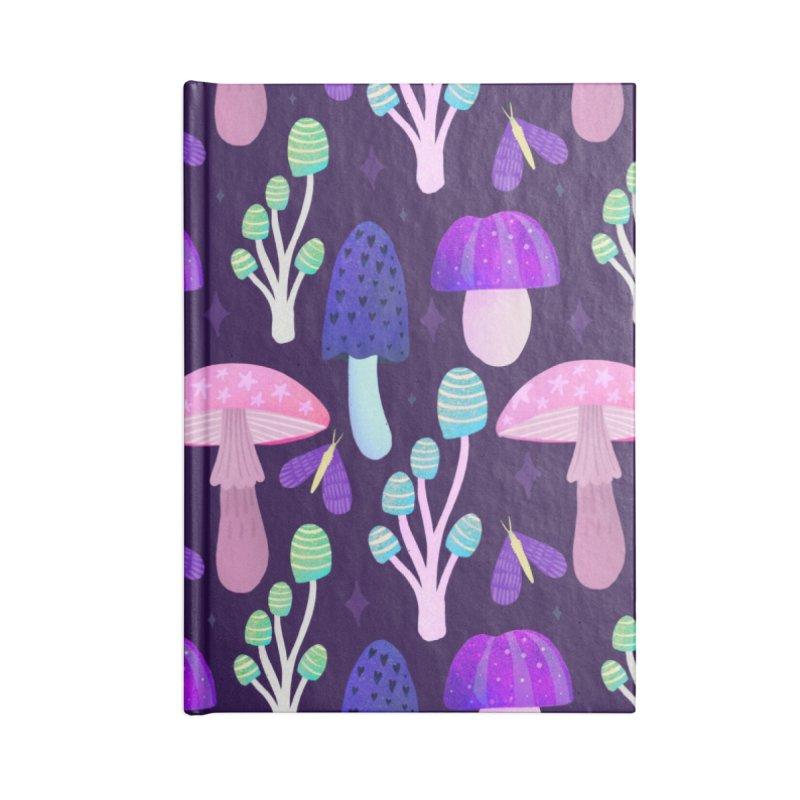 Mushroom pattern Accessories Notebook by Maria Jose Da Luz